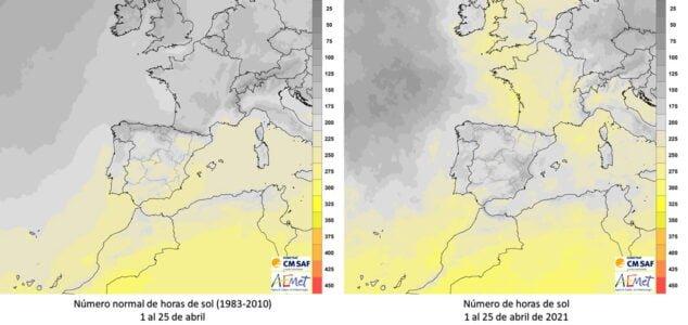 Imagen: Anomalía horas de sol - Comunidad Valenciana