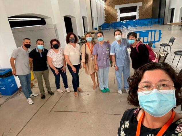 Imagen: El Prado de Ondara listo para la vacunación