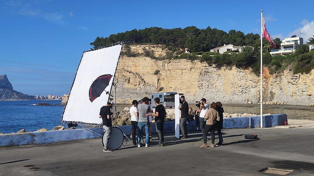 Grabación de película en la Marina Alta