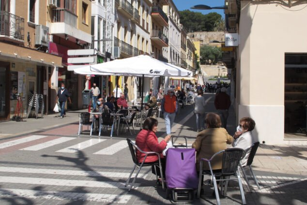 Imagen: Terrazas en la Calle Marqués de Campo Dénia