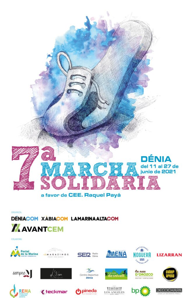 Imagen: Cartel de la Marcha Solidaria en favor del CEE Raquel Payà de Dénia