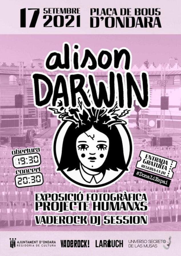 Imagen: Cartel concierto de Alison Darwin y esposición fotográfica Humanxos