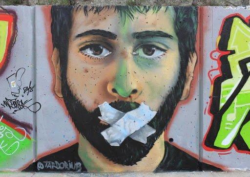 Imagen: Grafitti Autorretrato en Madrid