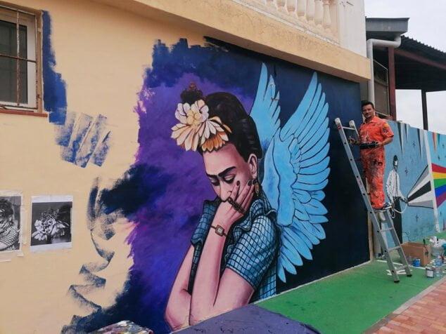 Imagen: Mural Frida Kahlo en Ondara