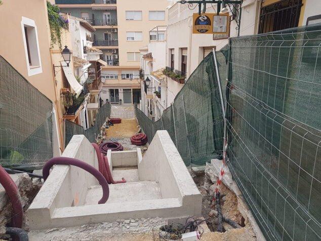 Imagen: Obras escaleras mecánicas Calp