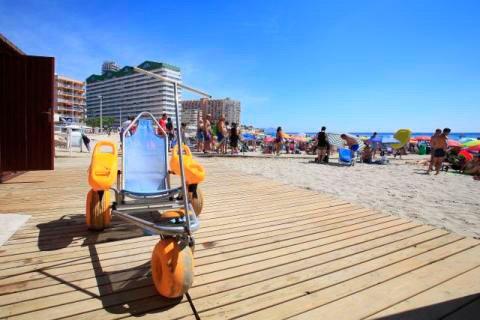 Imagen: Playas adaptadas en Calp