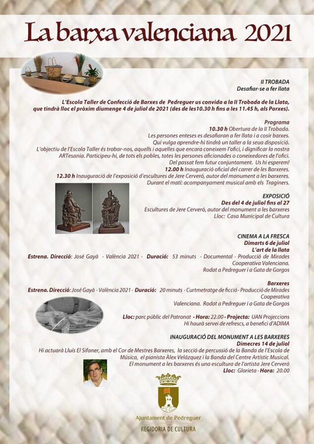 Imagen: programa-de-actos--la-Barxa-Valenciana-Pedreguer