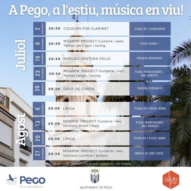 Imagen: A Pego, a l'estiu, música en viu