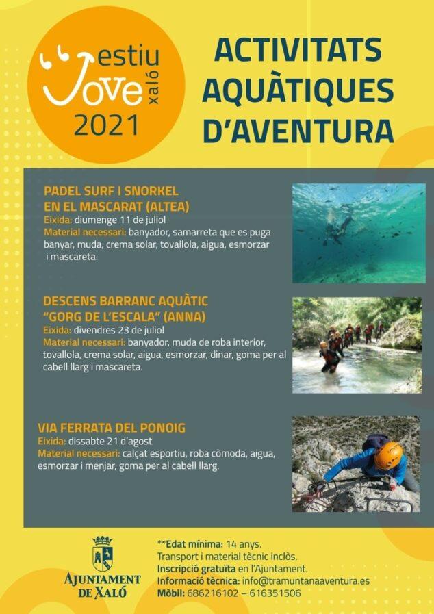 Imagen: Actividades acuáticas de aventura en Xaló