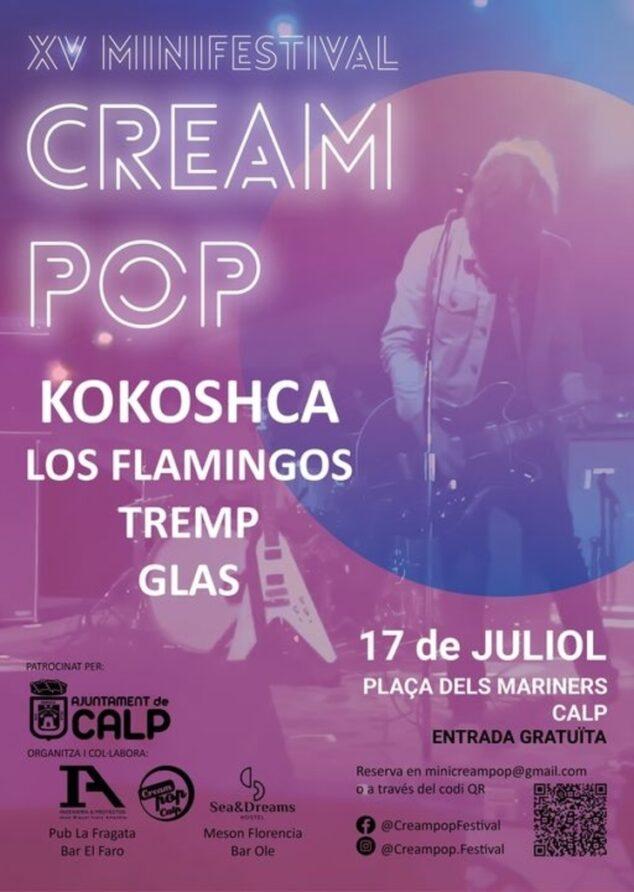 Imagen: XV edición del minifestival 'Cream Pop' en Calp