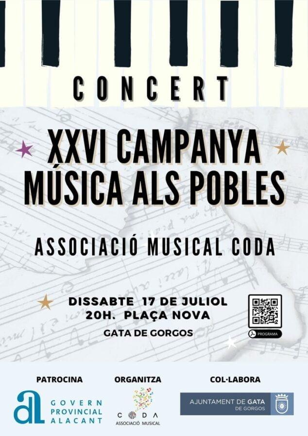 Imagen: XXVI Campaña Musical en Gata de Gorgos