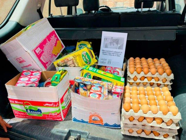 Imagen: Alimentos para el Sáhara donados por Pedreguer
