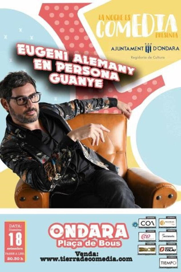 Imagen: Cartel 'En persona guanye', de Eugeni Alemany en Ondara